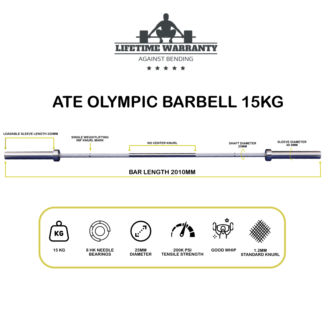 ATE Olympic Weightlifting Barbell