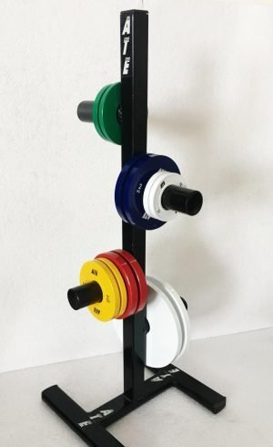 Weightlifting plate stand