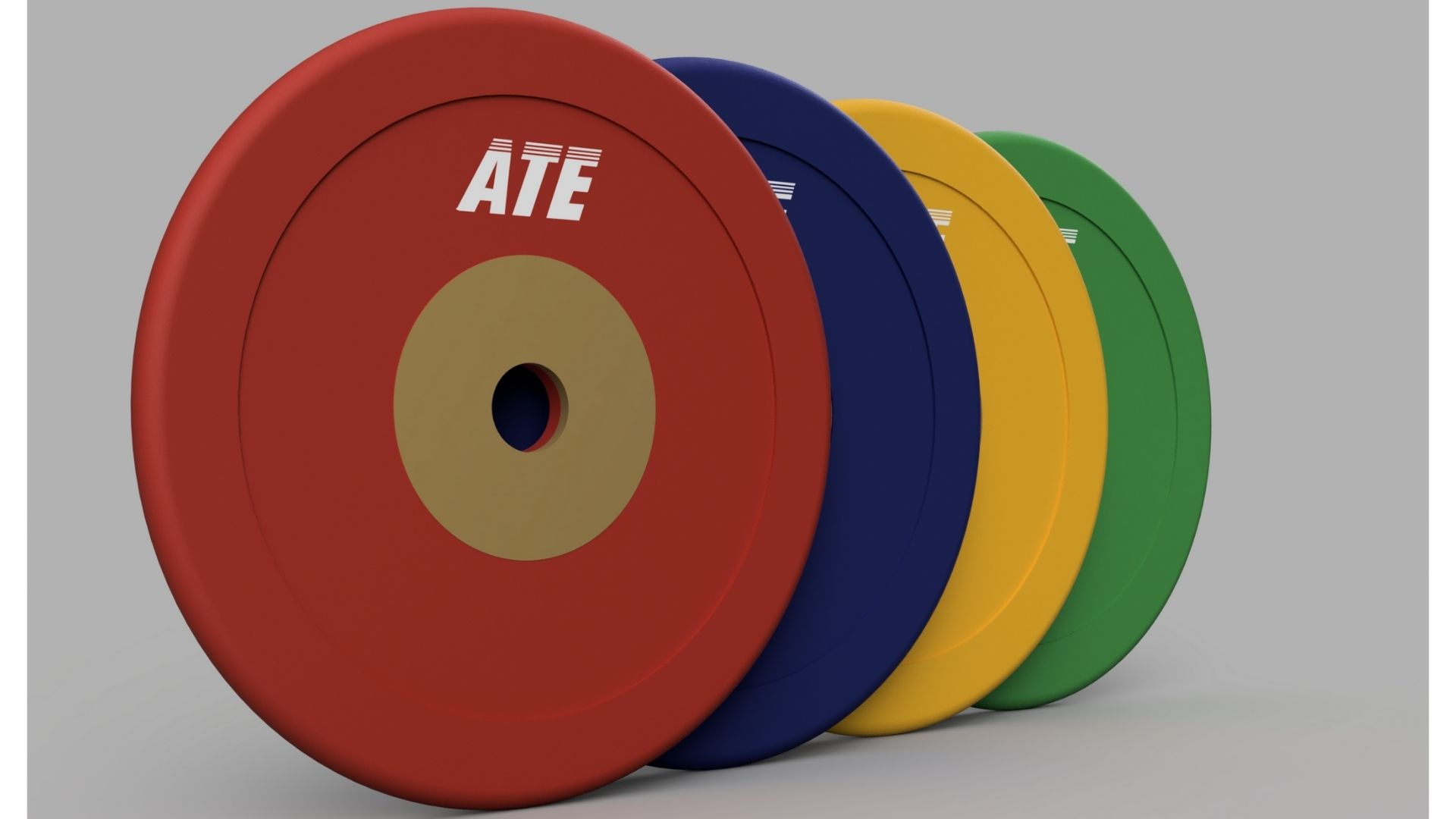 ATE Competition Rubber Weightlifting Plates